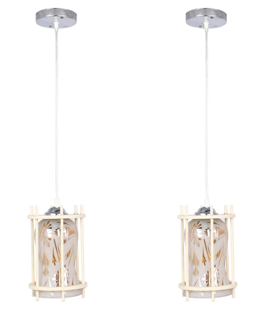 Somil Glass Exclusive Pendant White - Pack of 2
