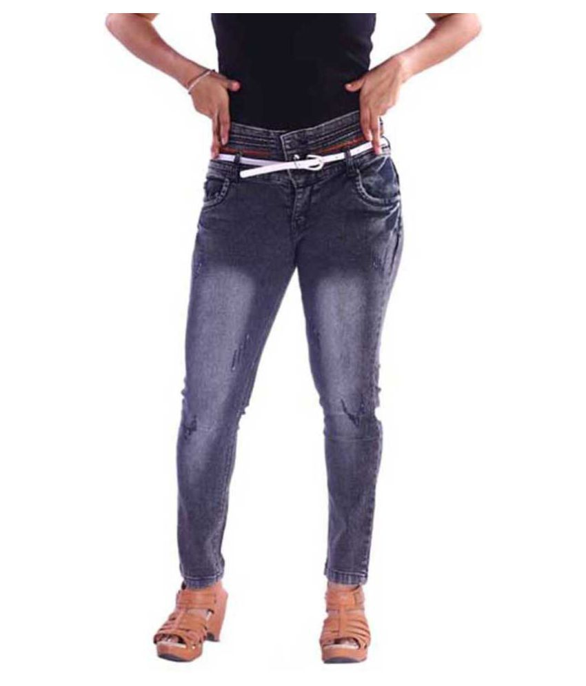 VISCARIA Denim Jeans - Black