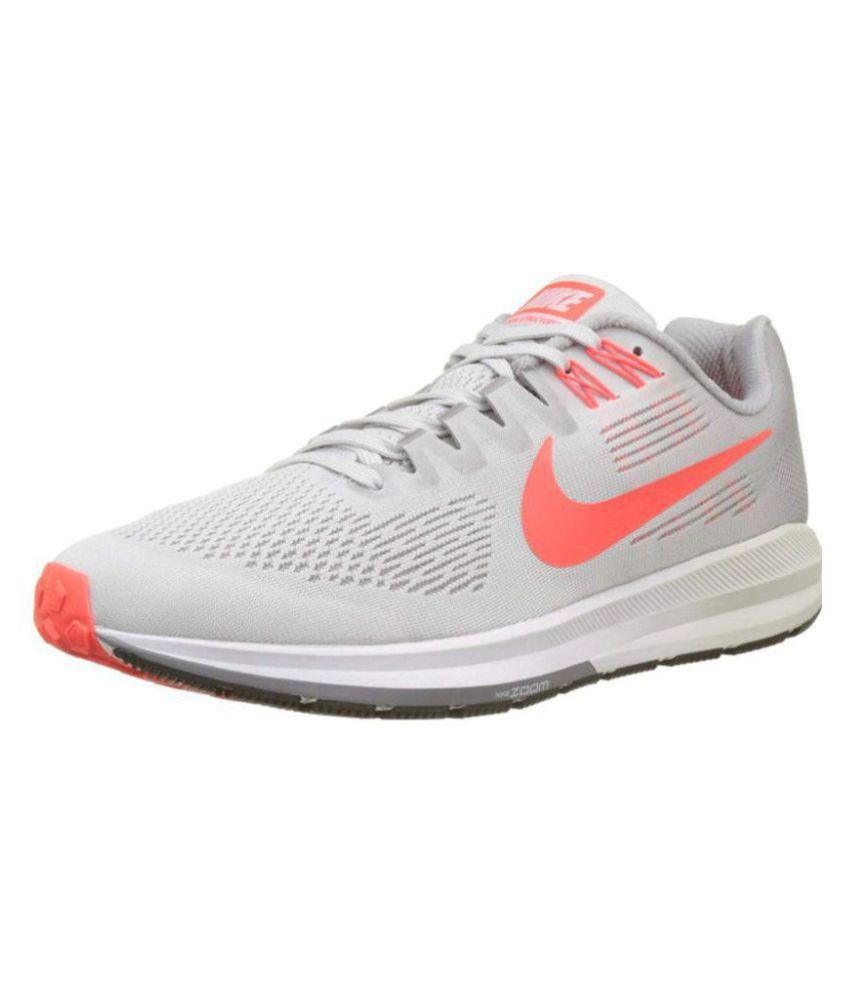 pánico en cualquier momento Suburbio  Nike ZOOM STRUCTURE 21 Grey Running Shoes - Buy Nike ZOOM STRUCTURE 21 Grey  Running Shoes Online at Best Prices in India on Snapdeal