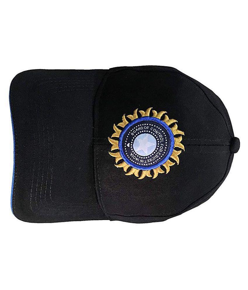 TyranT Unisex Cotton Team India ODI T-20 Cricket Supporter Cap, Large Black