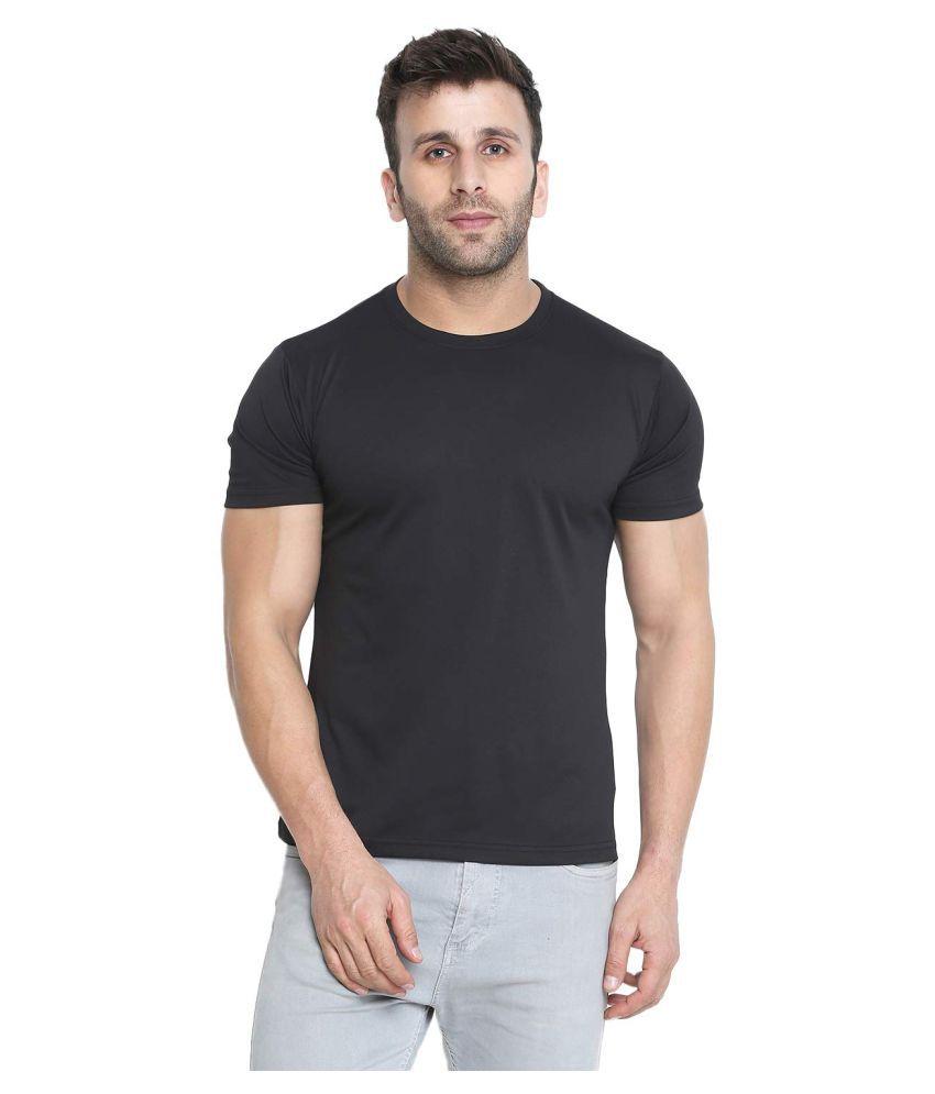 Veirdo Polyester Black Solids T-Shirt