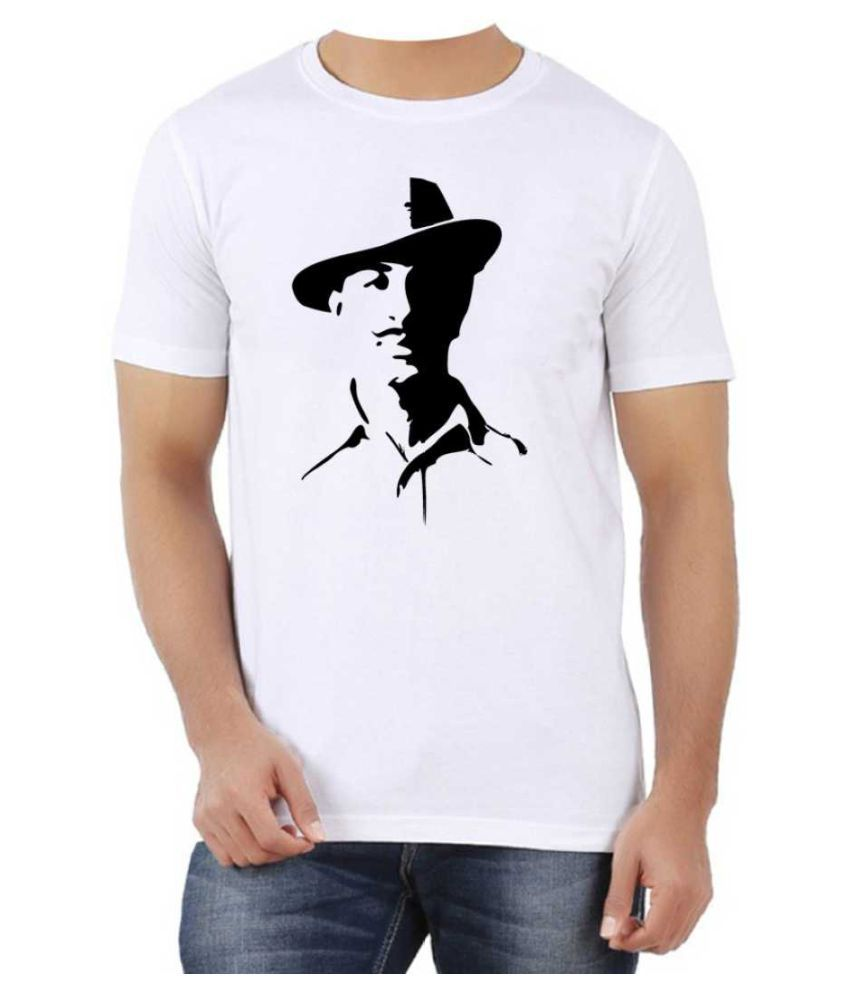 Heyworlds Polyester Cotton White Printed T-Shirt