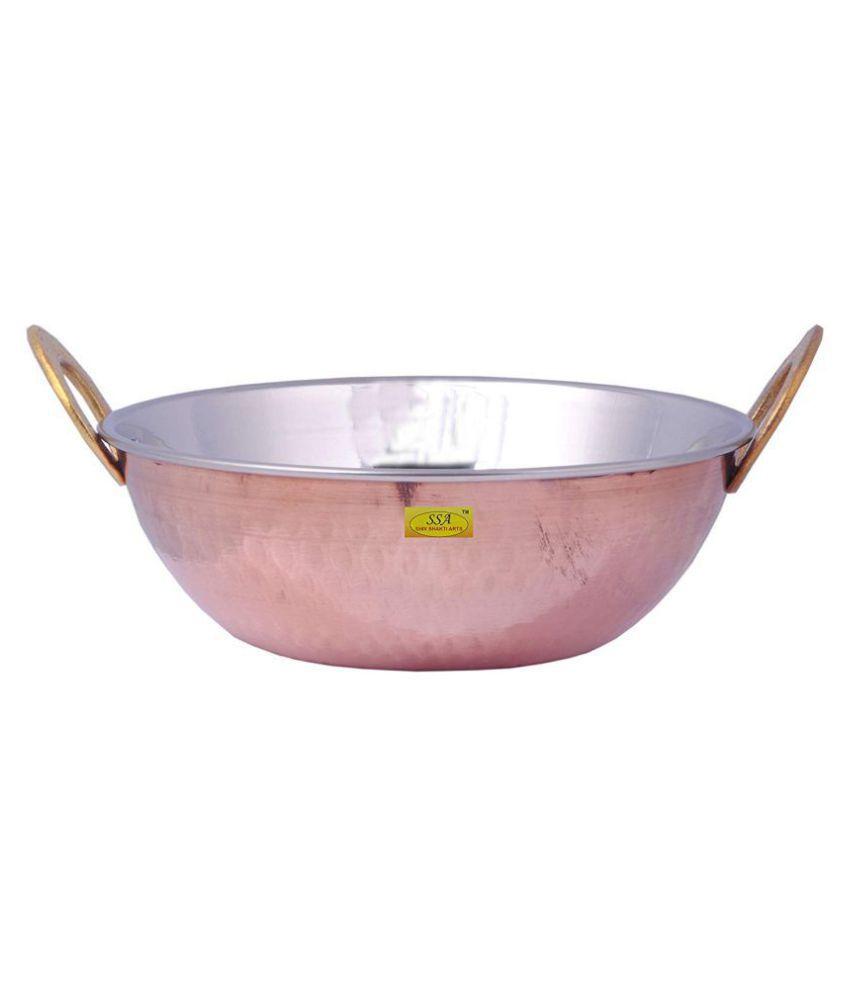 Shiv Shakti Arts Copper Kadhai Set 1 Piece Cookware Set