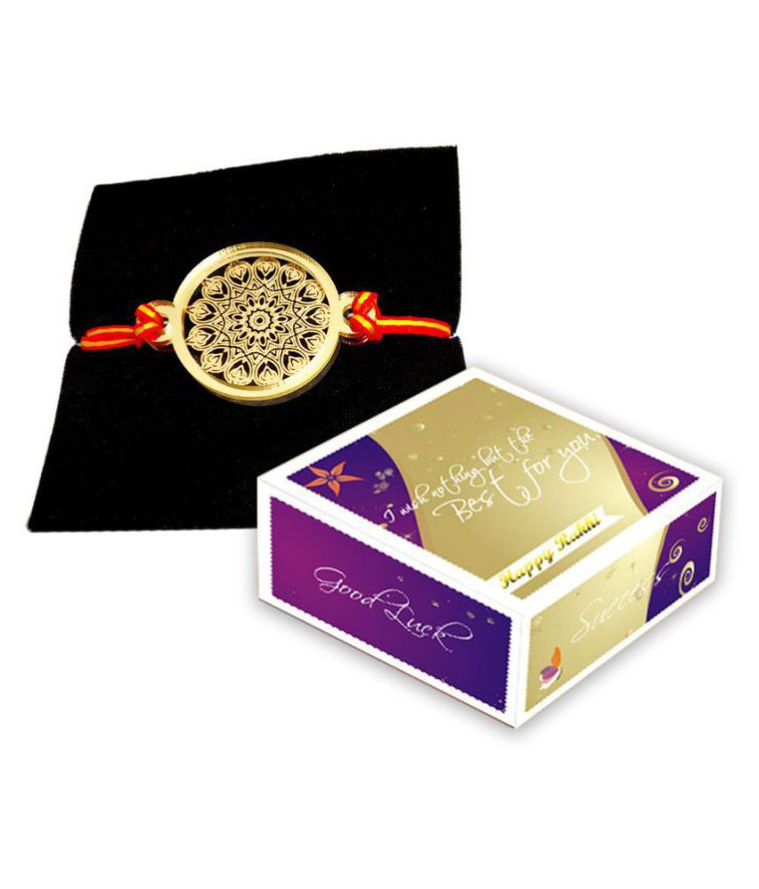 Silver/Gold Plated Rakhi Gold Pack of 1