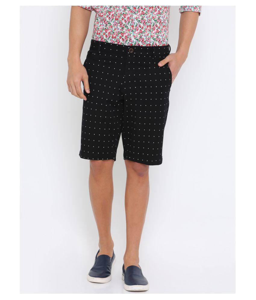 Showoff Black Shorts