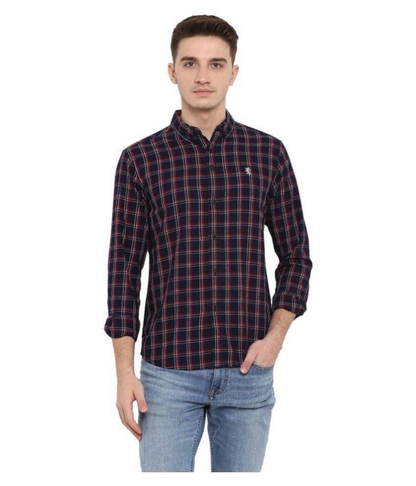 Red Tape 100 Percent Cotton Black Checks Shirt