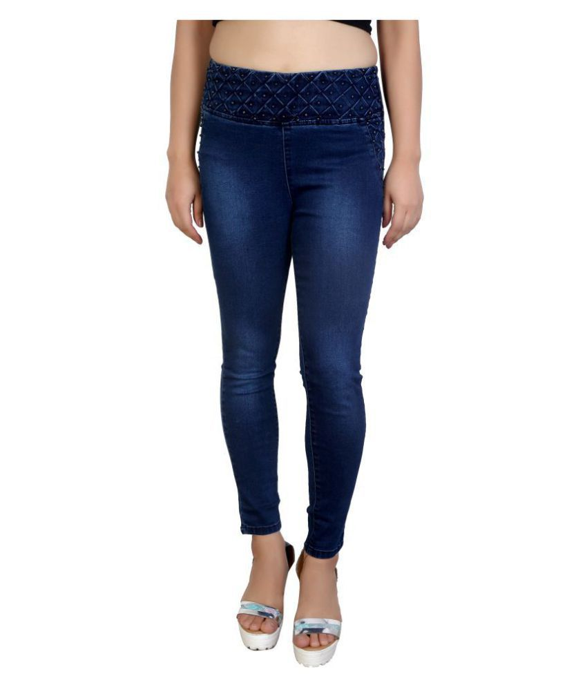 FCK-3 Denim Jeggings - Navy