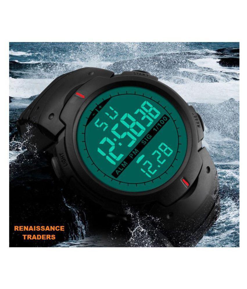 Renaissance Traders army sports military PU Digital Men's Watch