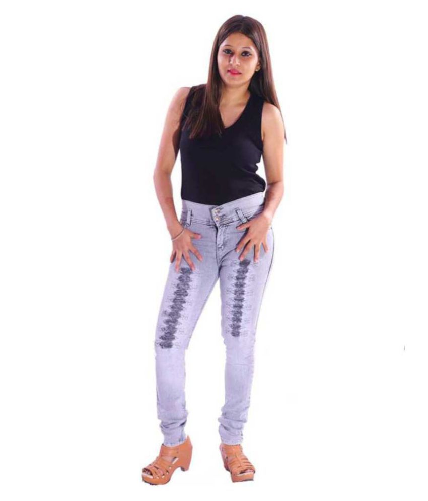 AZAD DYEING Denim Jeans - Grey