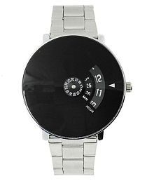 PAIDU Black Dial Silver Analoge Men's Watch iw101 Stainless Steel Analog Men's Watch