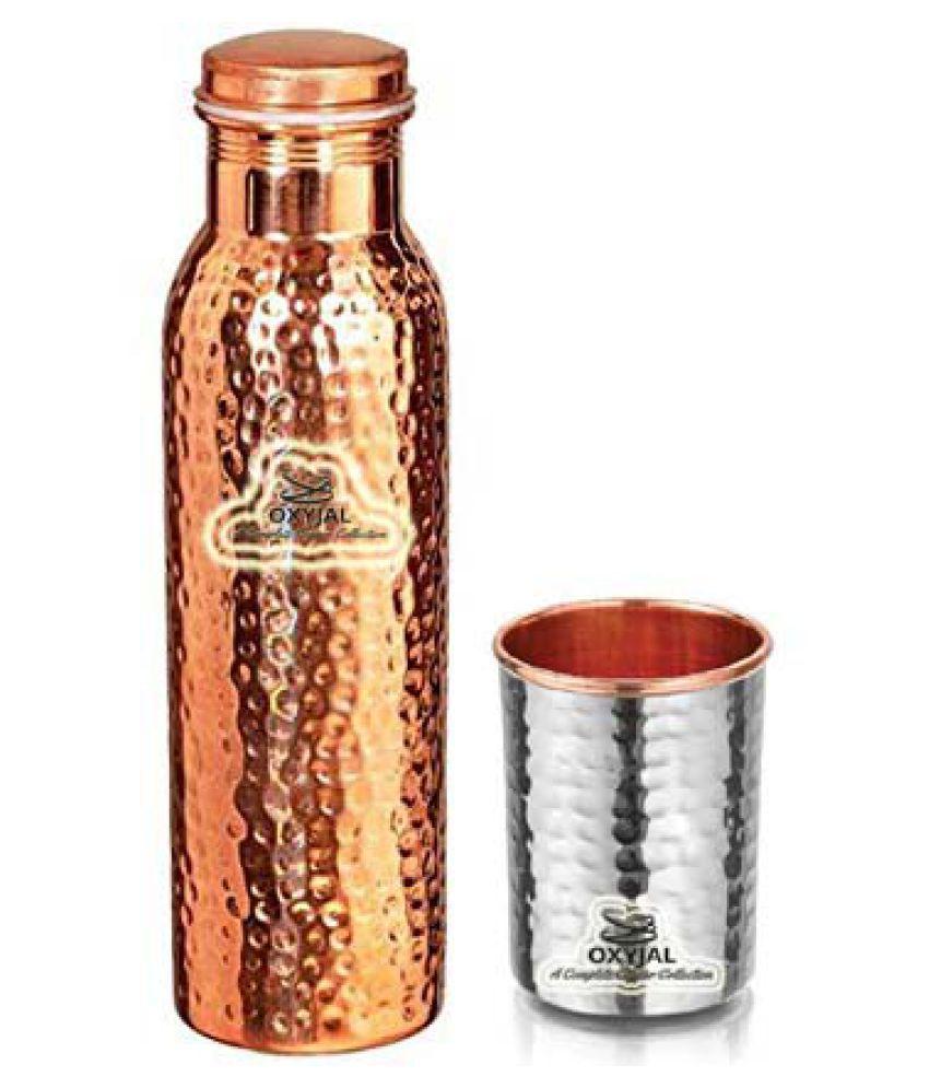 OXYJAL Copper Bottle Gift 2 Pcs Lemon set
