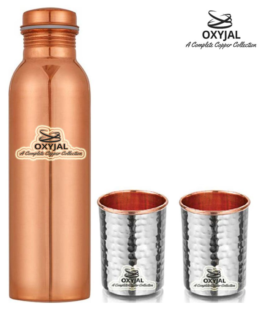 OXYJAL Copper Bottle Gift 3 Pcs Lemon set
