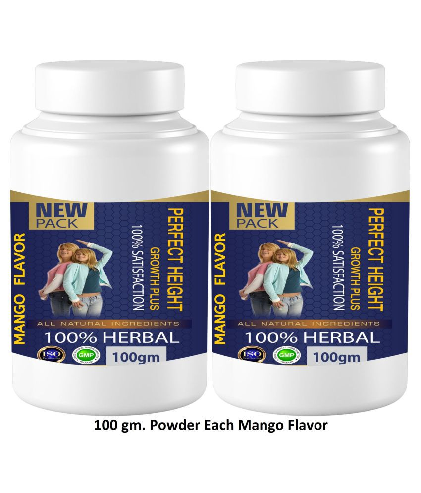 Zemaica Healthcare Perfect Height Height Growth Mango Flvor Powder 200 gm Pack Of 2