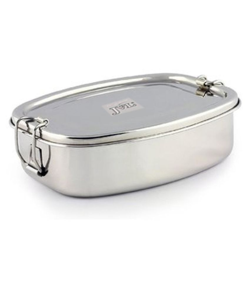 JVL Silver Stainless Steel Lunch Box