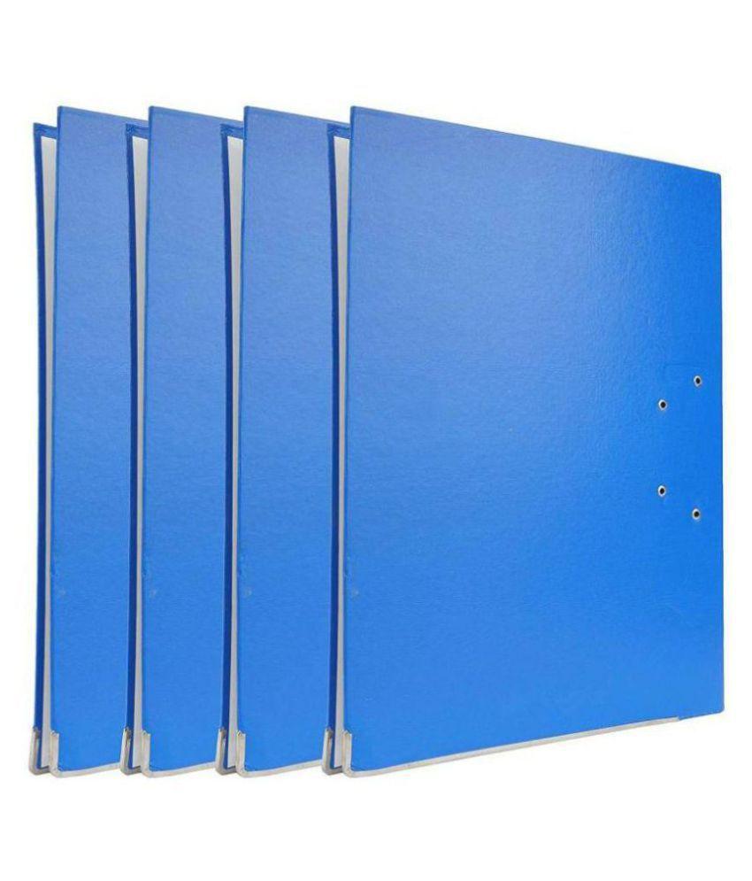 Helloperfect PVC BOX FILE  (Set Of 4, Blue)