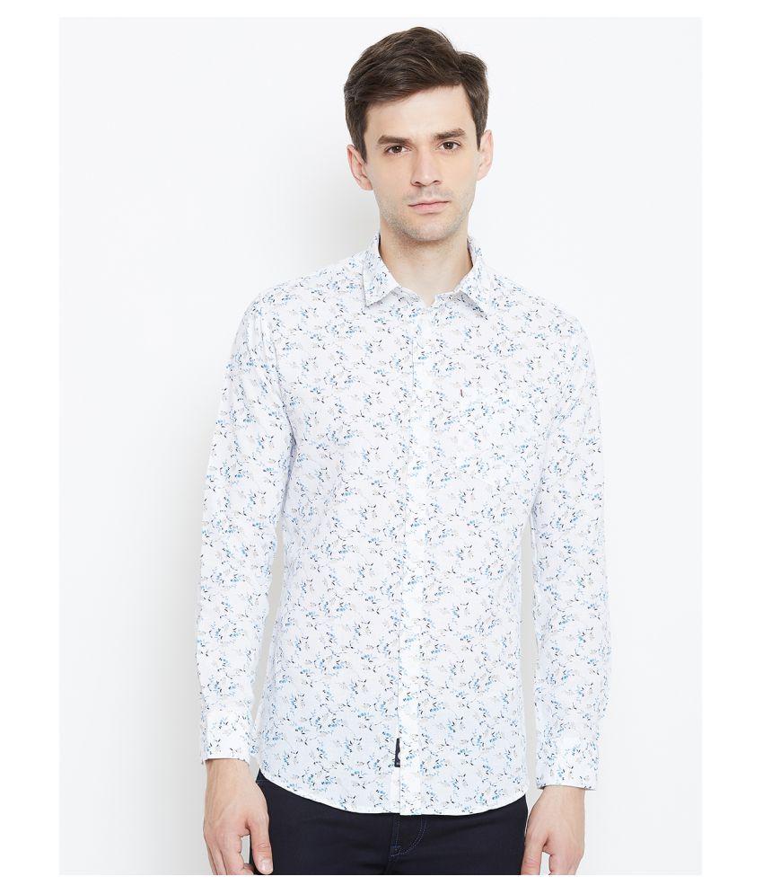 Duke 100 Percent Cotton Blue Solids Shirt