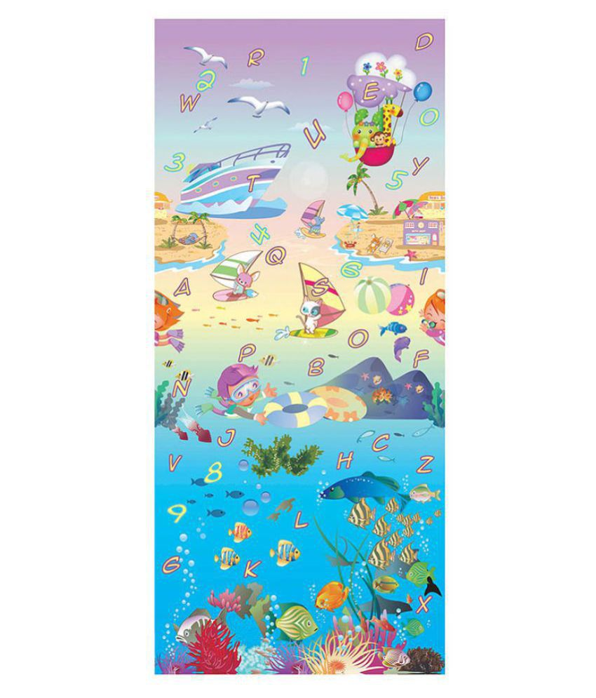 EZ Life Kids Soft Play & Crawling Mat - Sea World - 2 Sides - Thick - 120Cm X 180Cm