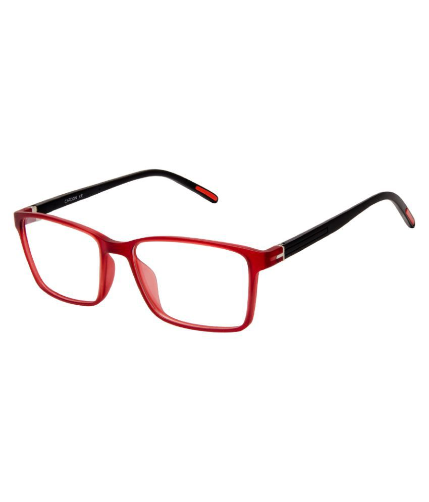 Cardon Matte Maroon Rectangular Full Rim EyeFrame for Kids