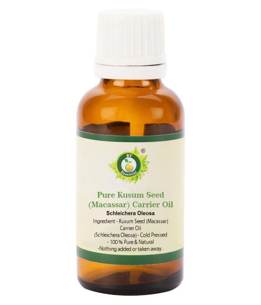 R V Essential Pure Kusum Seed (Macassar) Oil Carrier Oil 50 mL