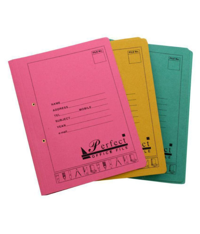 Office Files Multicolored, Premium Quality (Pack Of 25 Files Pcs)