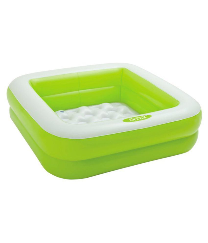 fastdeal Infatable Square Pool -Green pink - 57100