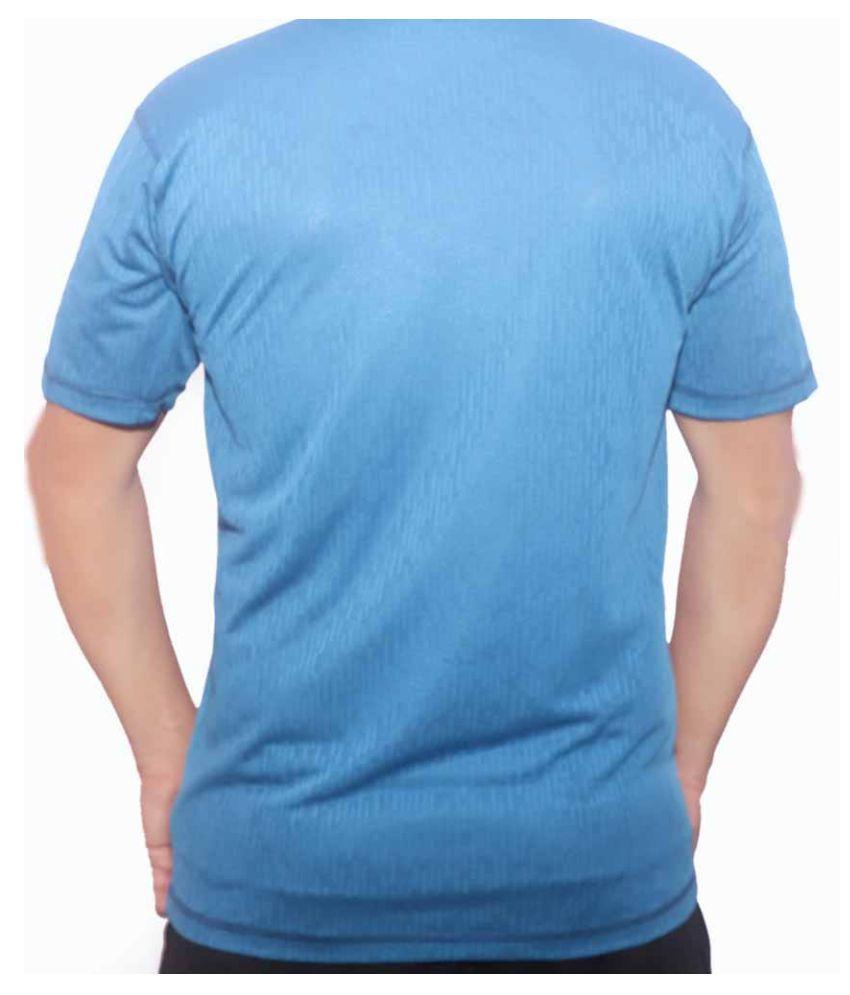 Adidas Rayon Blue Printed T-Shirt