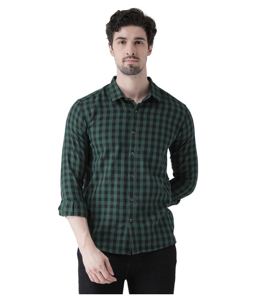 Realm 100 Percent Cotton Multi Checks Shirt