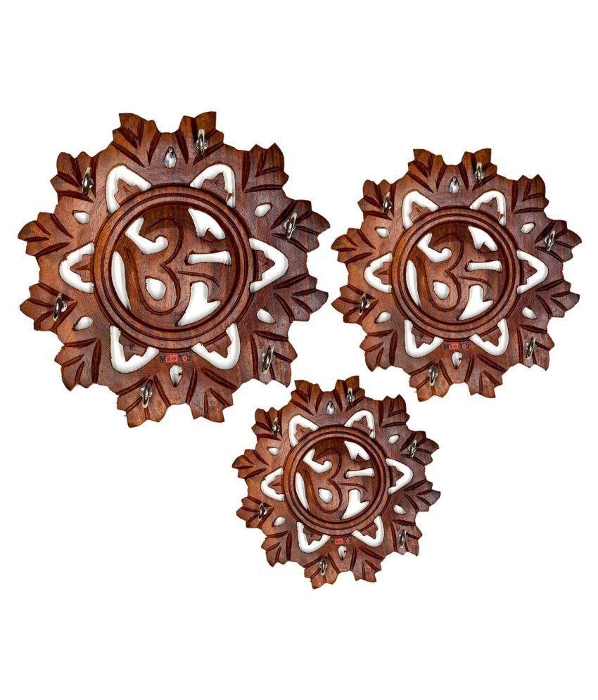 S Decor Brown Wood Key Holder Pack