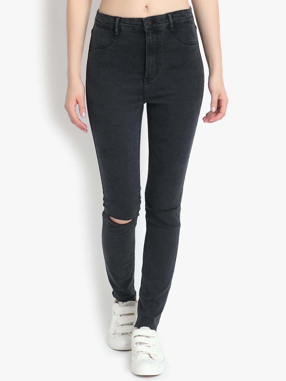 kotty Cotton Lycra Jeans - Black