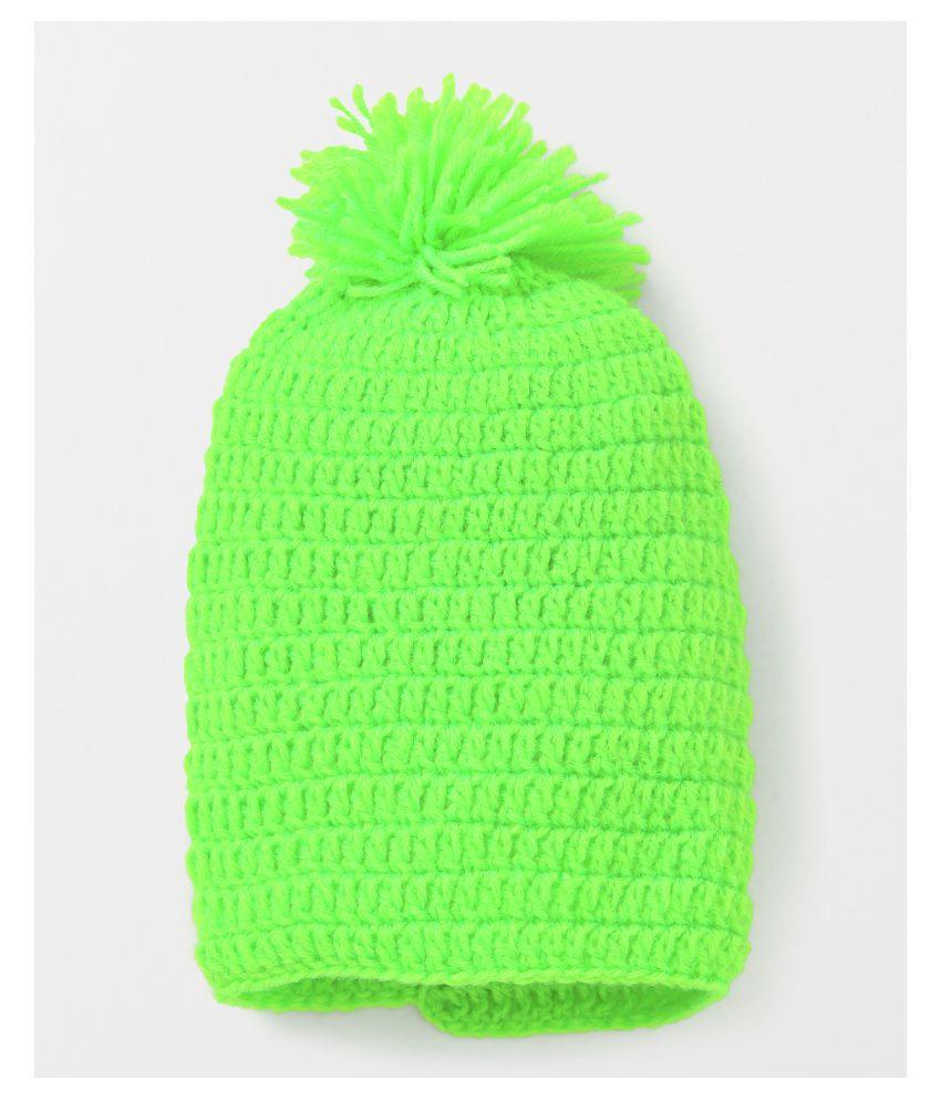 CHUTPUT PomPom Green Cap