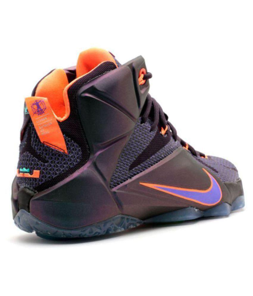 Nike Lebron James X12 Purple Basketball Shoes