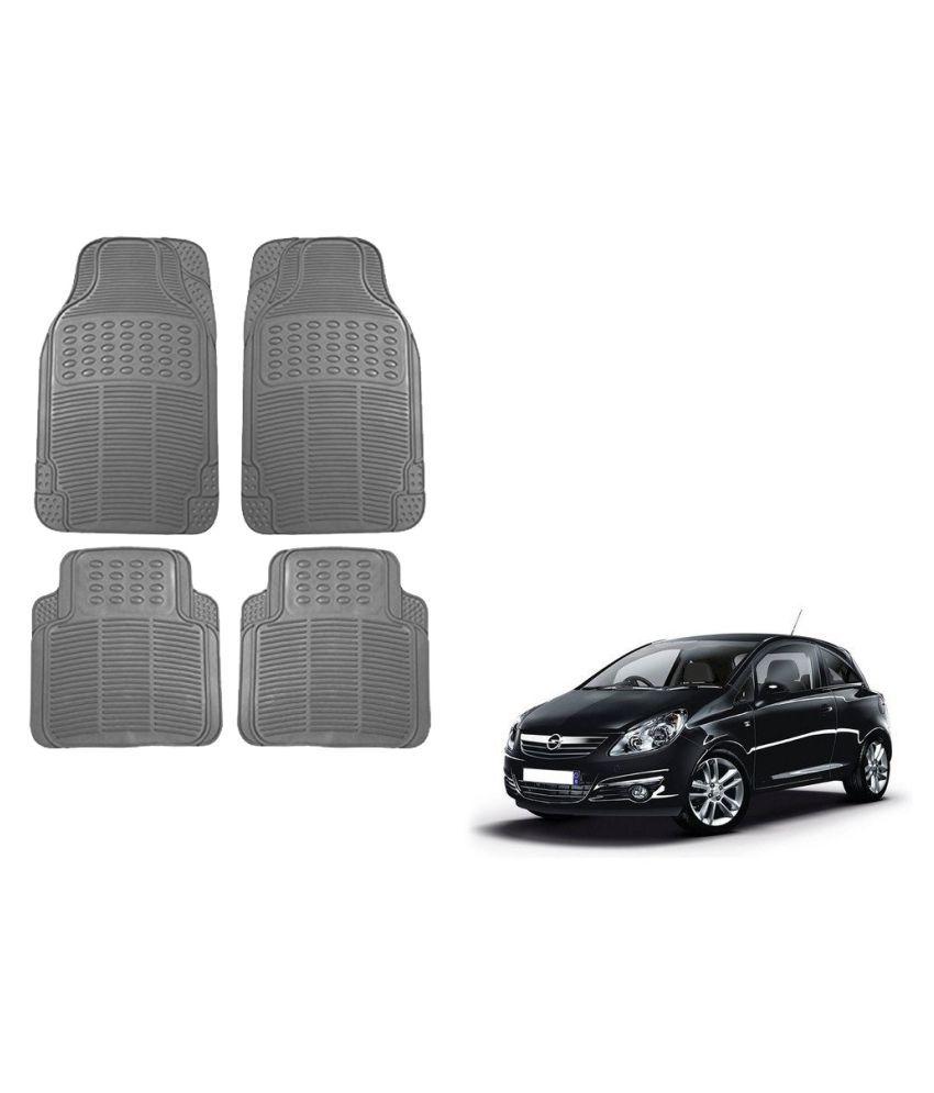 Auto Addict Car Simple Rubber Grey Mats Set of 4Pcs For Opel Corsa