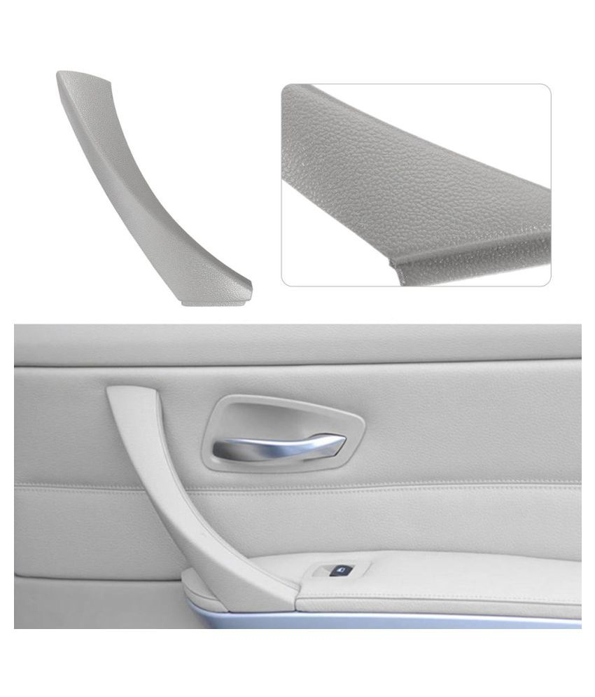 Right side Gray Inner+Outer Door Panel Handle Pull Trim Cover for BMW E90 328i