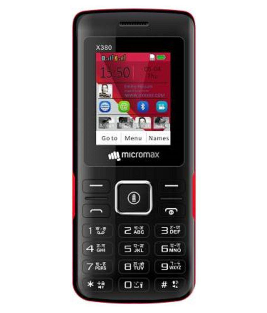 Micromax X380 (JUMBO-BATTERY) Black Red