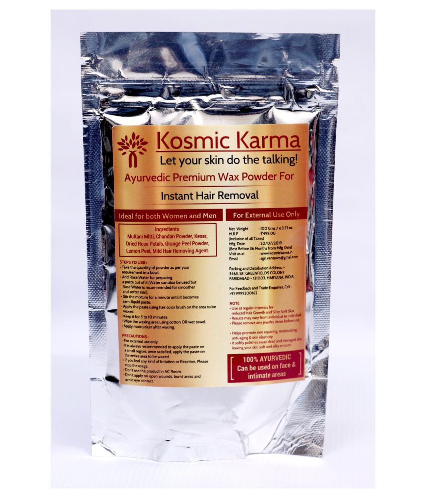 Kosmic Karma Hair Removal Powder Rose Flavour 100 G Buy Kosmic