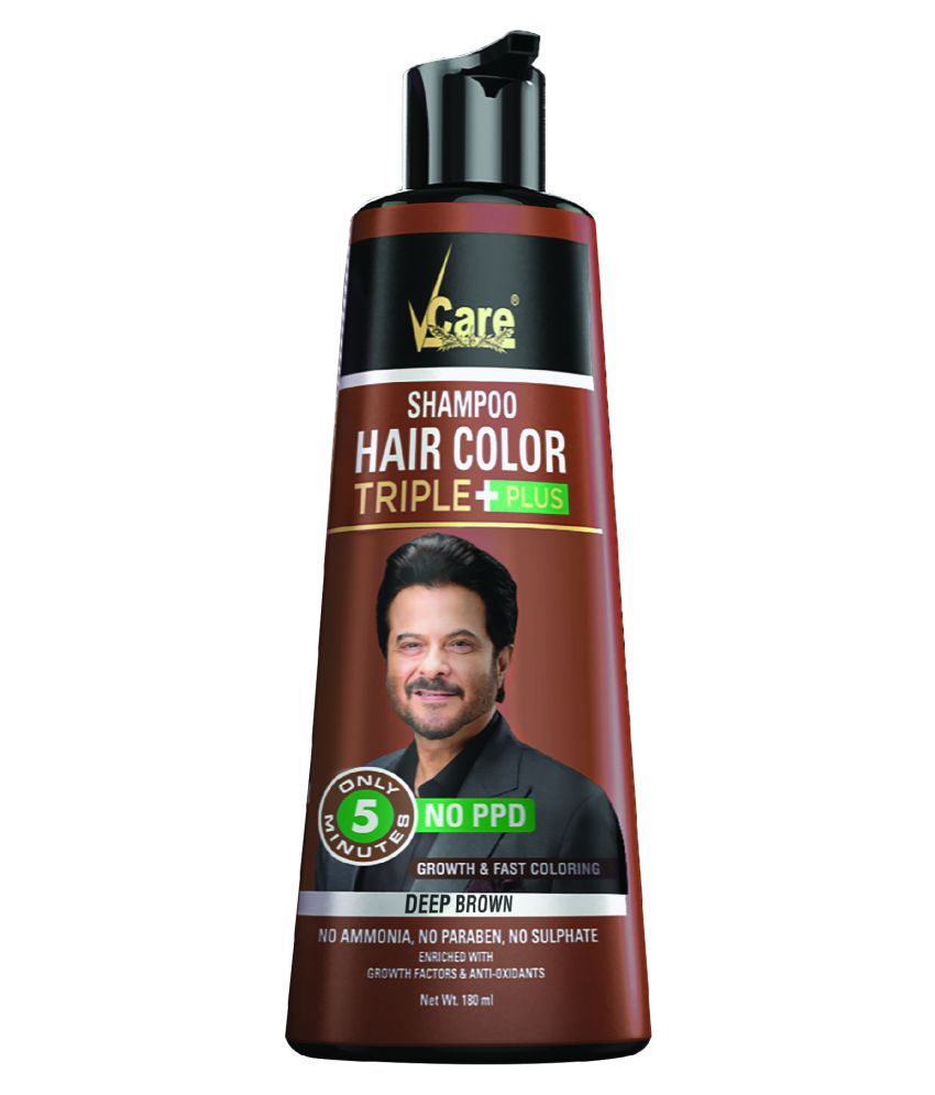 Vcare Shampoo Hair Color Temporary Hair Color Brown 180 Ml Buy Vcare Shampoo Hair Color Temporary Hair Color Brown 180 Ml At Best Prices In India Snapdeal