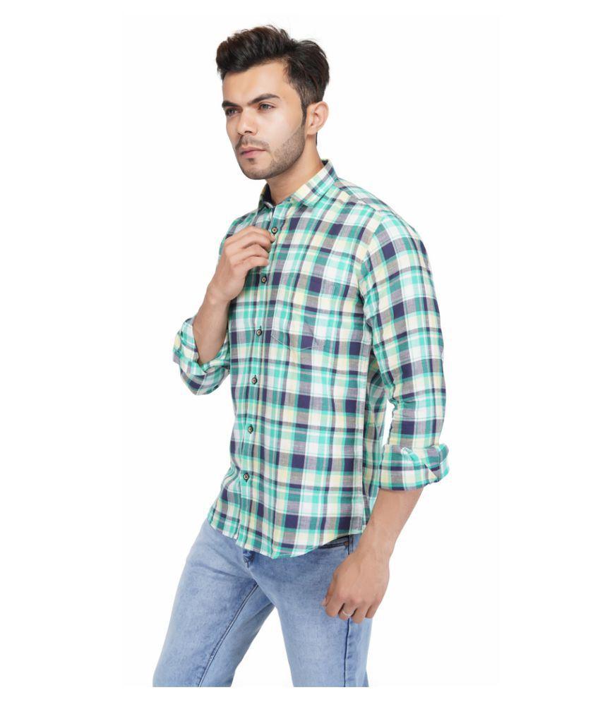 AllenCPR 100 Percent Cotton Multi Checks Shirt