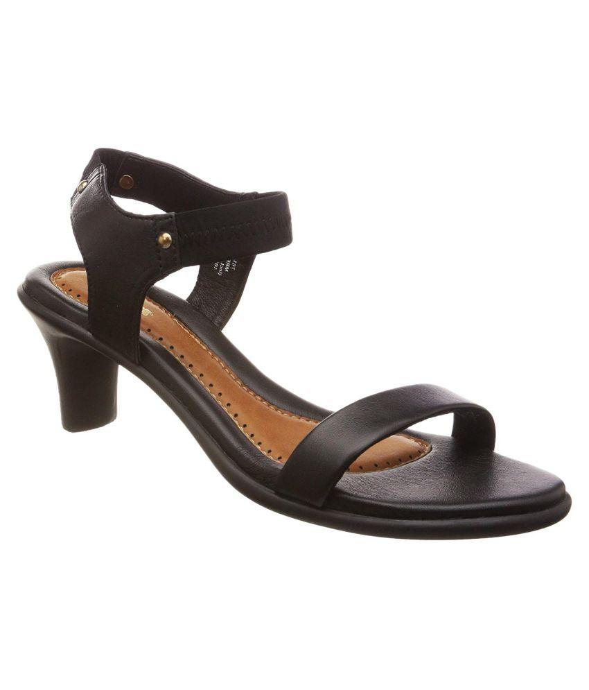 Bata Black Cone Heels