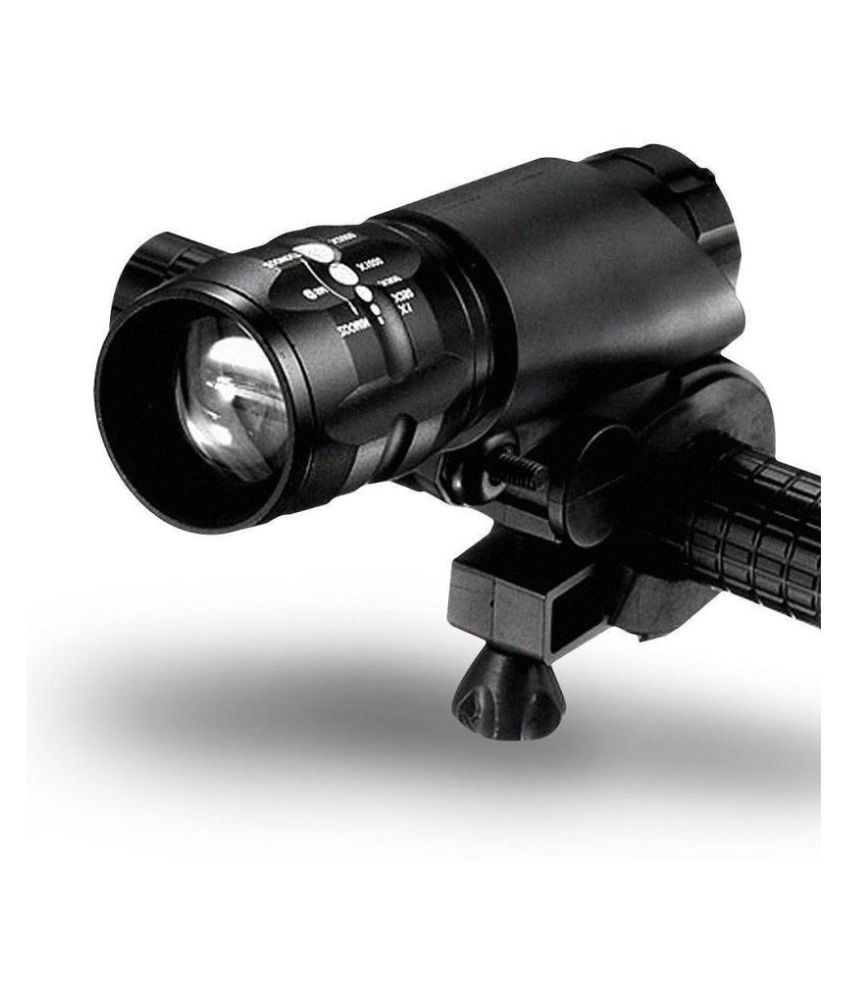 Zoomable 5-Model Cycling Bicycle Bike LED Flashlight Torch Headlight With Holder