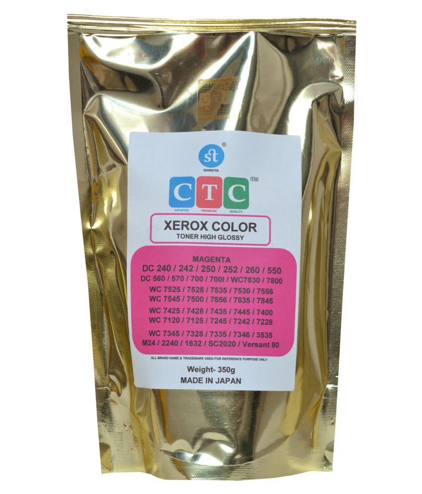 CTC Color Single Toner for XEROX MAGENTA WC7525,7528,7530,7535,7545,7556,7500,7425,7435,7445,7400,SC2020,Ver80 TONER POWDER