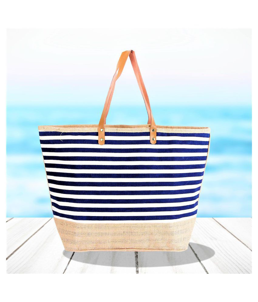 Earthbags Blue Canvas Tote Bag