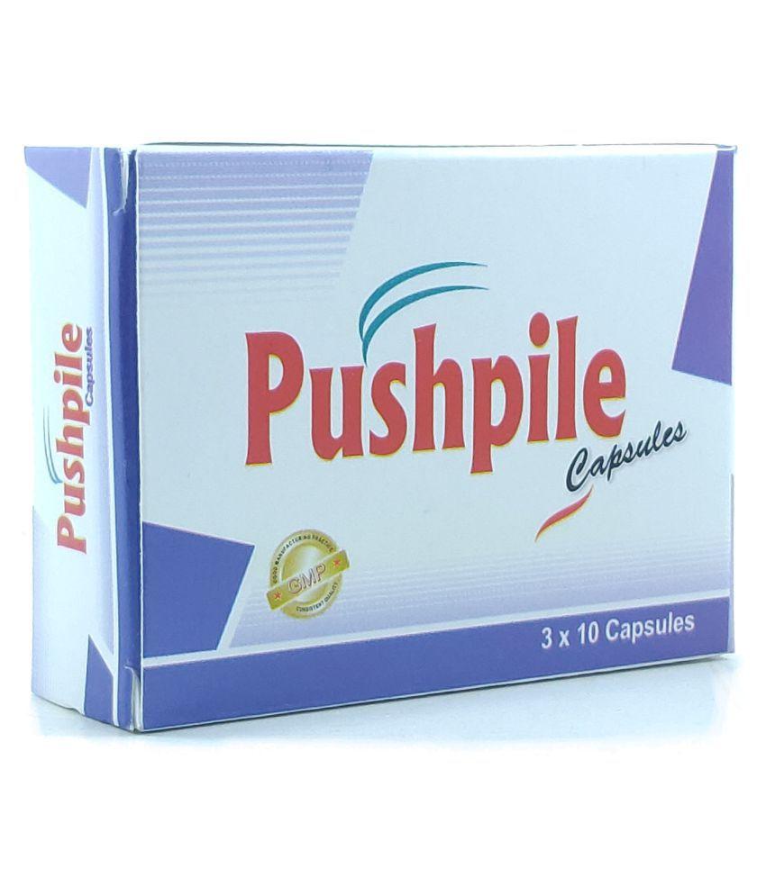 Dharmani Pushpiles Piles Free Capsules - Piles - Herbal Capsules For Capsules For Men & Women - Pain Relief In Bleeding & Burning Pack Of 1