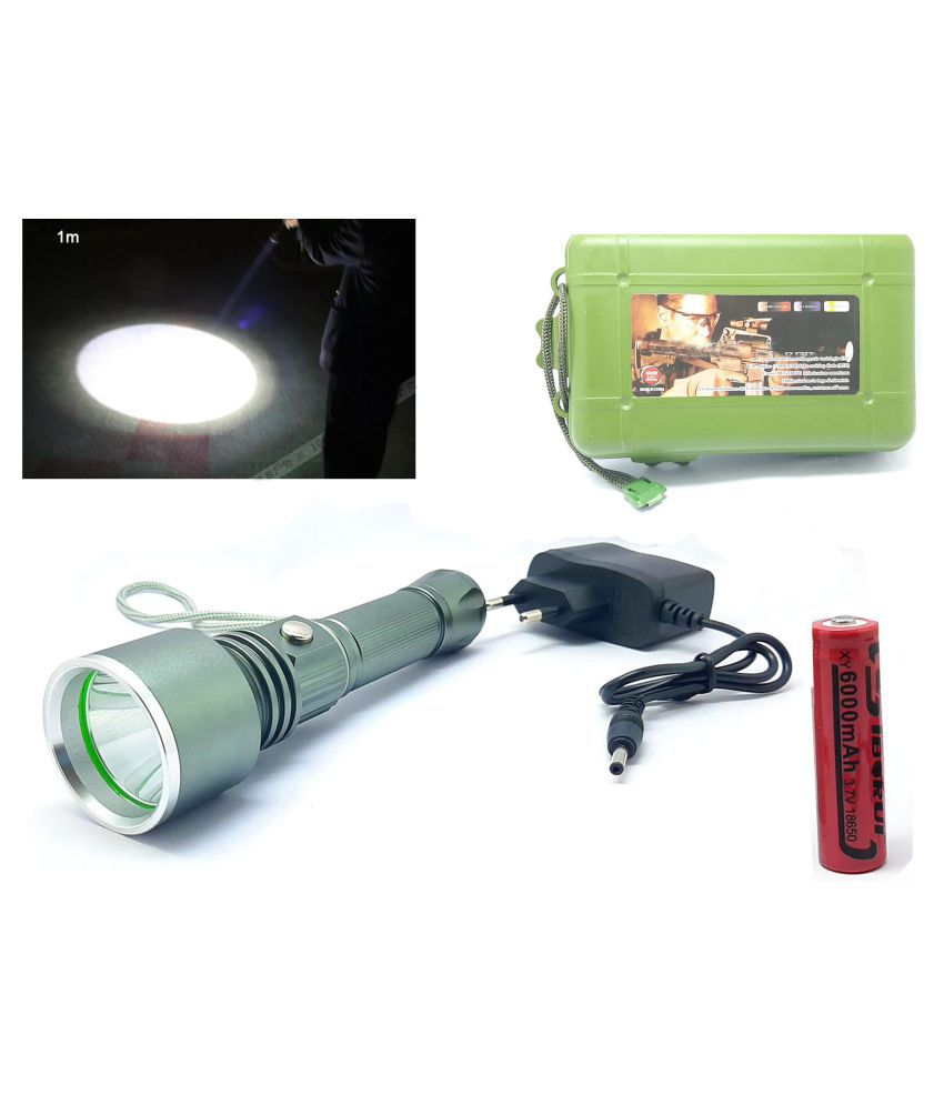Texme 7W Flashlight Torch 3 Mode Rechargeable - Pack of 1