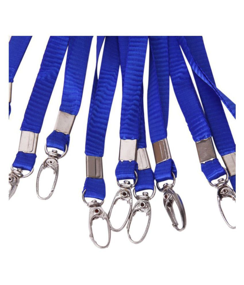 10pcs ID Card Lanyard Badge Neck Strap w/ Metal Clip: Buy Online at Best  Price in India - Snapdeal