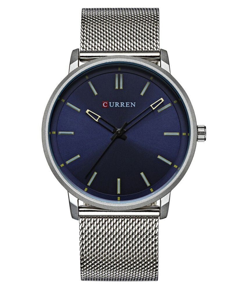Curren CR 8233 Blue Stainless Steel Analog Men #039;s Watch