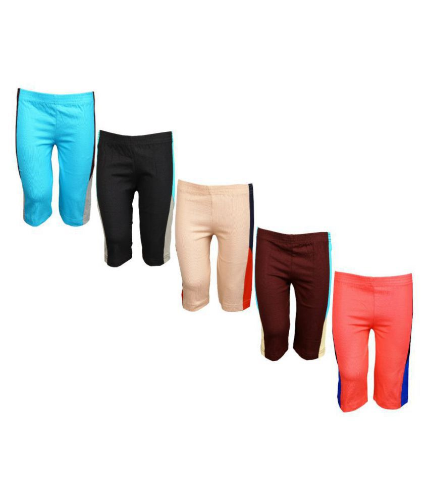 Mitwa's Cotton 3/4th Pant/Capri for Kids,Pack of 5,Unisex