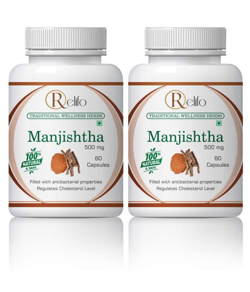 Relifo Manjishtha Destroy Tumors & Ulcers Capsule 500 mg Pack Of 2