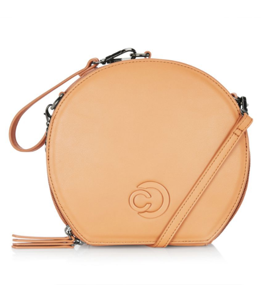 Caprese Brown Faux Leather Sling Bag