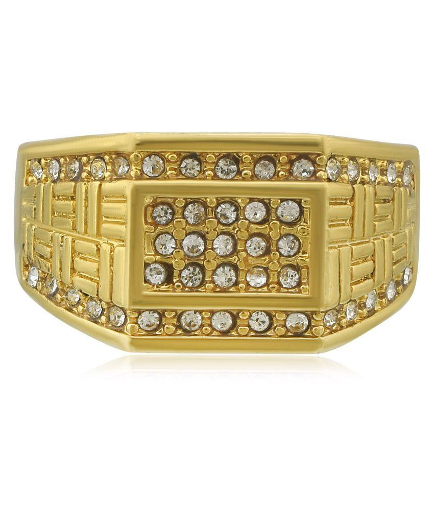 Dzine Trendz Gold Alloy Rings