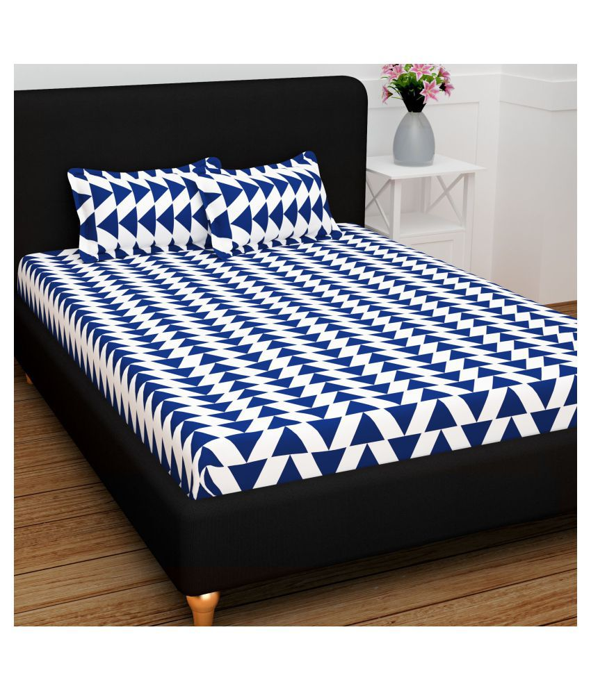 Story@Home Cotton Double Bedsheet with 2 Pillow Covers